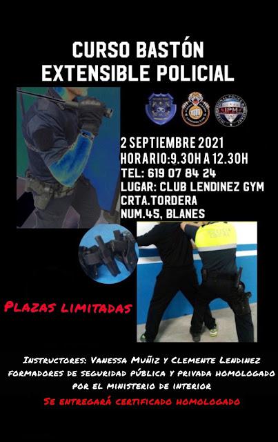 Curso de bastón extensible policial (2 de septiembre) IPM