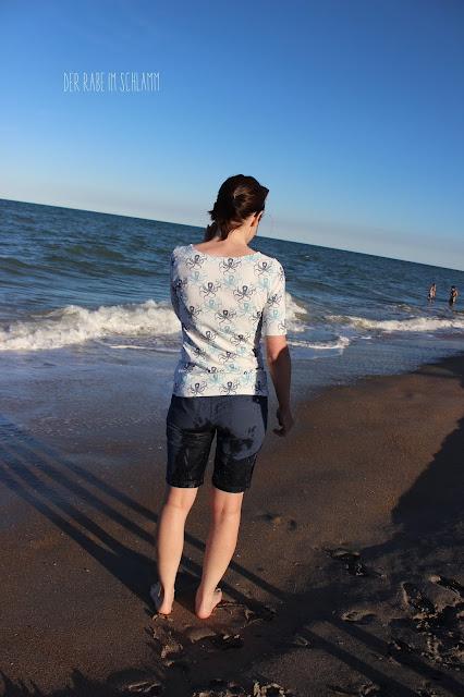 Der Rabe im Schlamm, Nähen, Shirt, Hilco, U-Boot-Ausschnitt