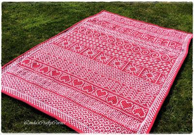 crochet blanket mosaic technique