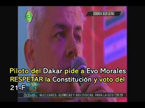 DAKAR: LEONARDO MARTÍNEZ PIDE A EVO Y LINERA RESPETAR EL VOTO DEL 21F Y LA CONSTITUCIÓN