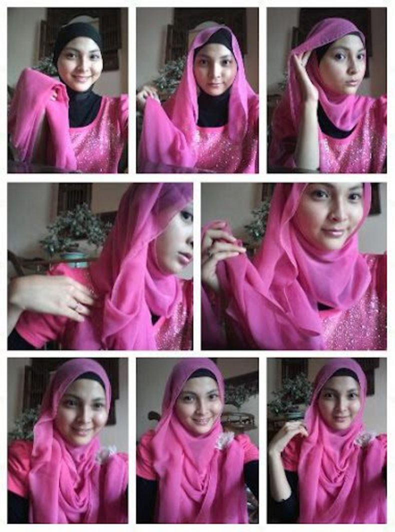 40 Model Tutorial Hijab Paris Casual Model Terbaru 2016 Paling