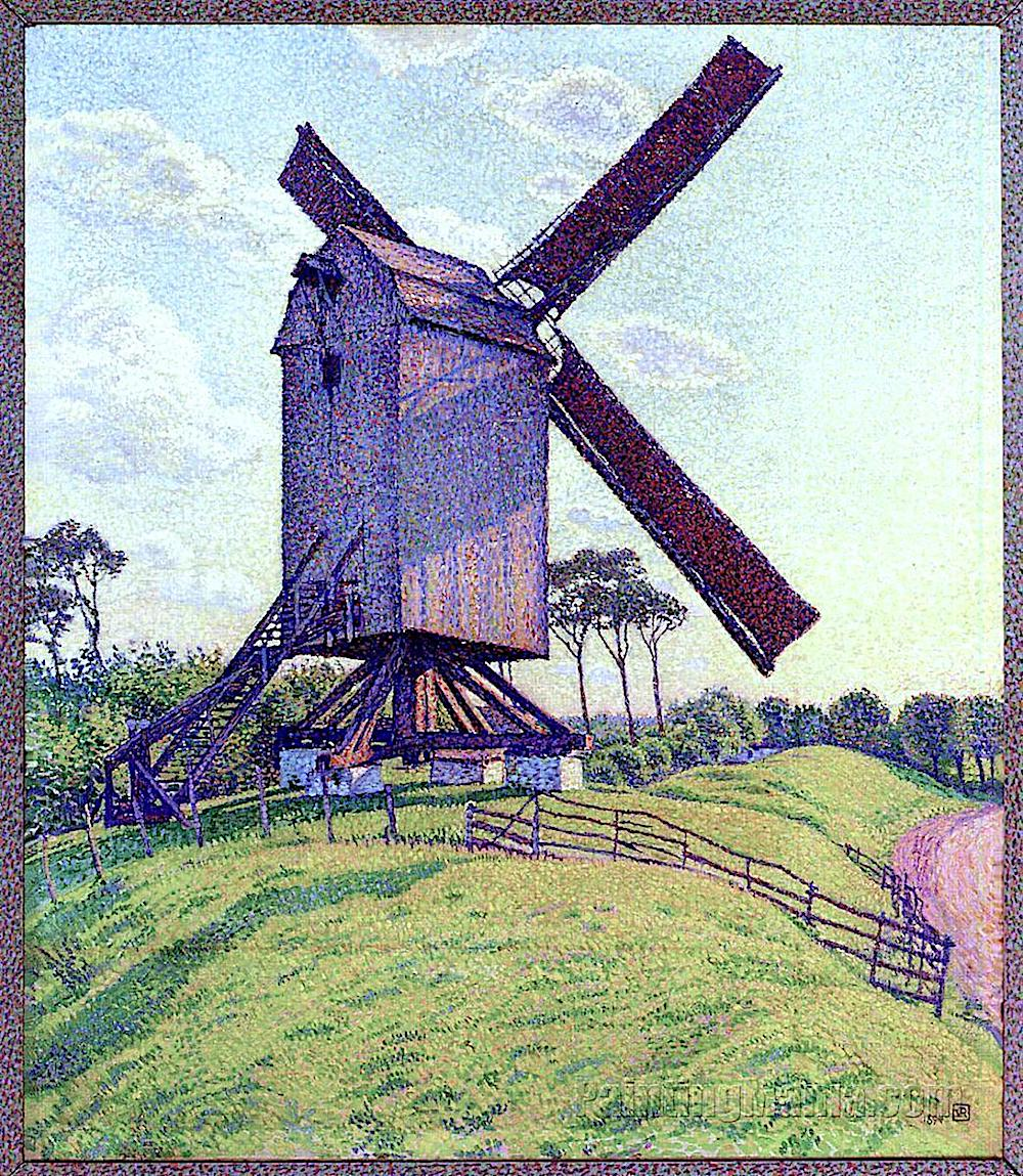 a Theo Van Rysselberghe painting of a purple windmill
