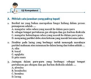 Uji Kompetensi 8 Sistem Pernapasan Manusia IPA Kelas 8 Halaman 76