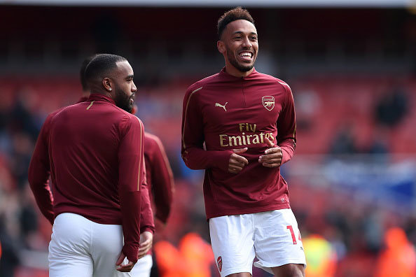 Arsenal FC Aubameyang and Lacazette