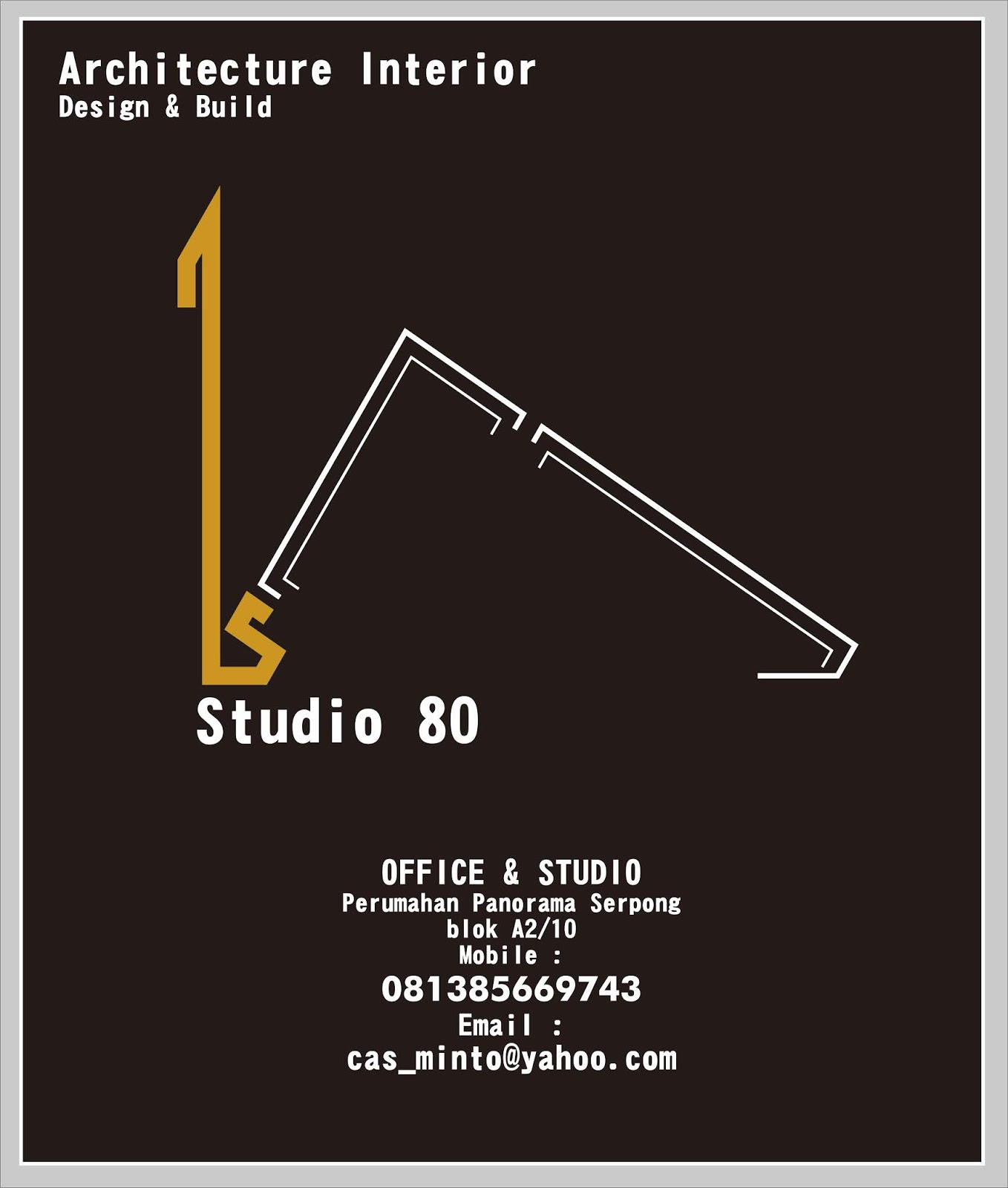 Jasa Desain Ruang Kantor Tangerang: Studio80