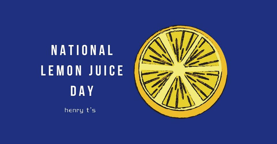 National Lemon Juice Day
