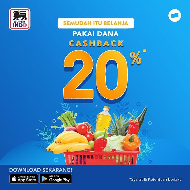 #Superindo - #Promo Cashback HIngga 25K Belanja Pakai DANA (s.d 30 Nov 2019)