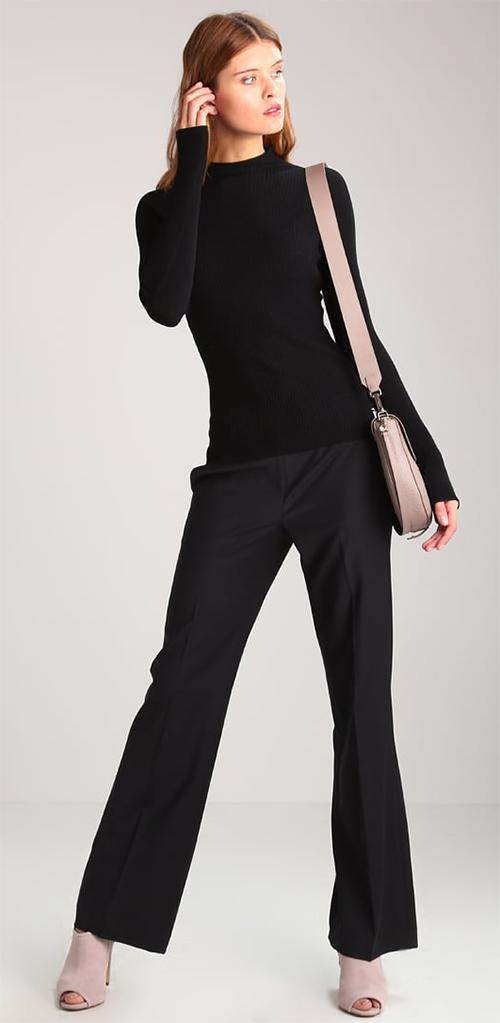 Pullover femme noir col montant Escada Sport