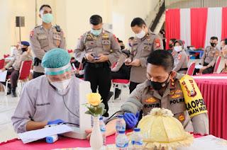 Sambut HUT Bhayangkara ke 74, Polda Sulsel Gelar Donor Darah Sukarela