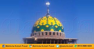 Pemasangan Kubah Masjid Enamel Alak - Kupang