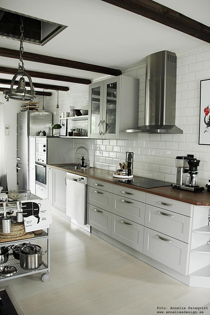 anelies design, kök, industriellt, industristil, kök, köks, hth, serveringsvagn, kaffe, vitt kakel, vita kakelplattor, sverigeunderlägg, underlägg, städer, grytunderlägg,