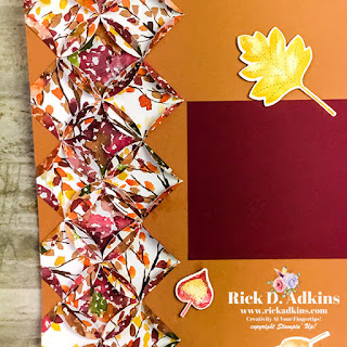 I have a Fall scrapbook layout for you today using the Cathedral Window technique.  Find out more on my blog