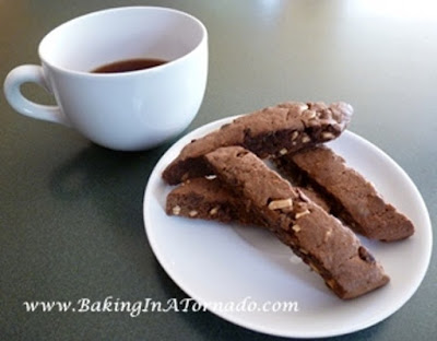 Chocolate Almond Biscotti | www.BakingInATornado.com |  #recipe