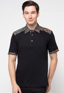 Model baju batik muslim terbaru untuk pria kombinasi