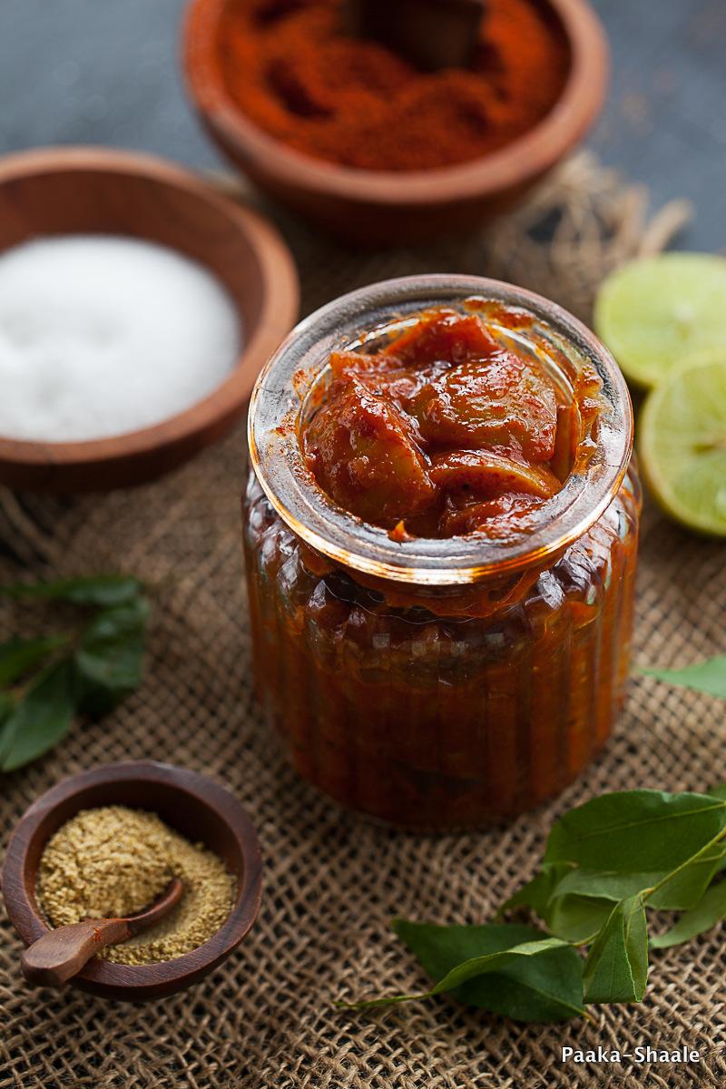 Paaka Shaale Nimbekai Uppinakai South Indian Lime Pickle