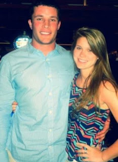 Shannon Reilly with her husband Luke Kuechly