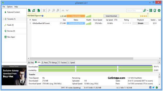 uTorrent latest version screenshot 3