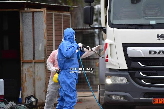 Πλήρως εξοπλισμένοι με μέσα προστασίας οι υπάλληλοι καθαρότητας του Δήμου Ναυπλιέων (βίντεο)