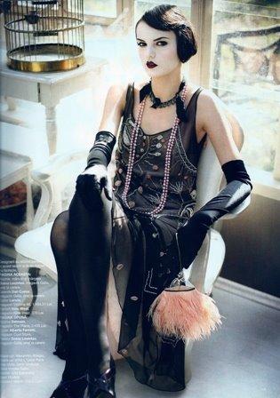 La Mode Enchant 233 E 1920s Fashion Clock