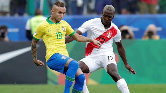 Brasil goleó 5-0 a Perú y se clasificó a cuartos de final como líder del Grupo A de la Copa América