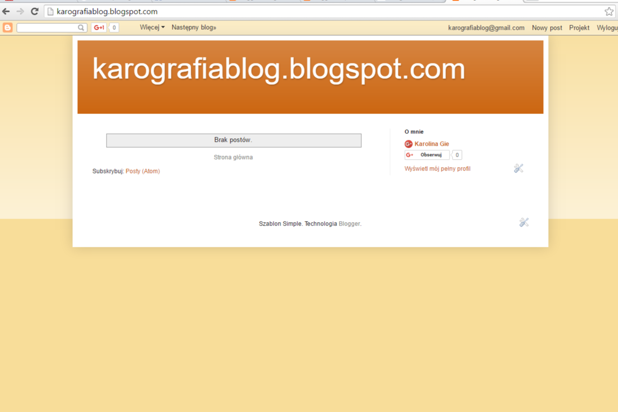 Jak założyć bloga na bloggerze (blogspocie)? - gotowe