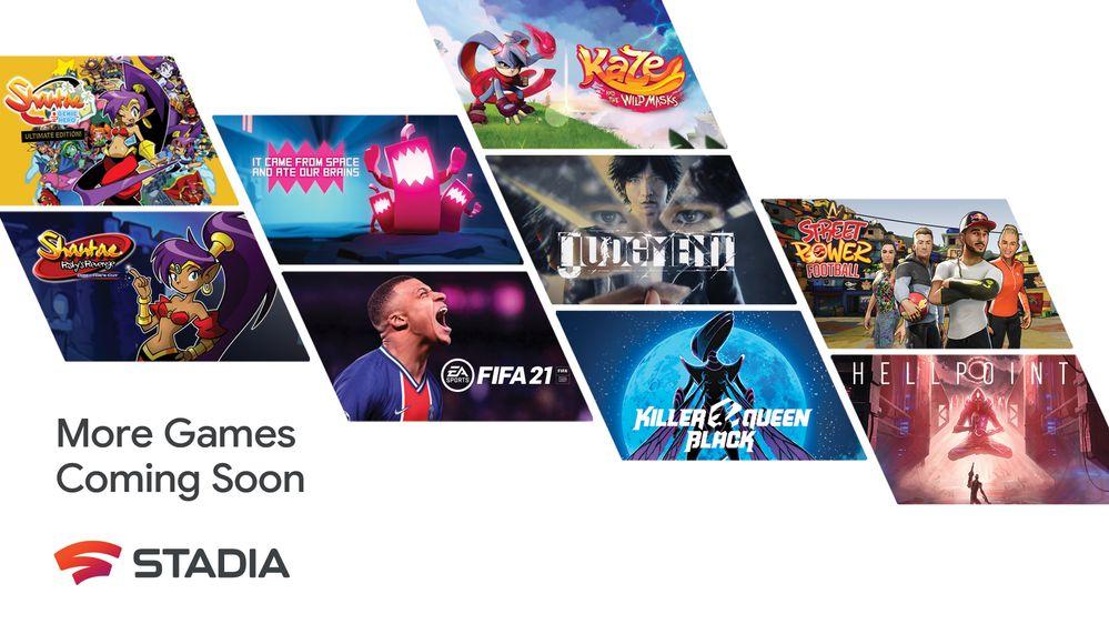 Oltre 100 nuovi giochi in arrivo per Google Stadia
