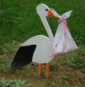 Image: Delivery Stork - Photo Credit: {c} Jenny Rollo on freeimages.com