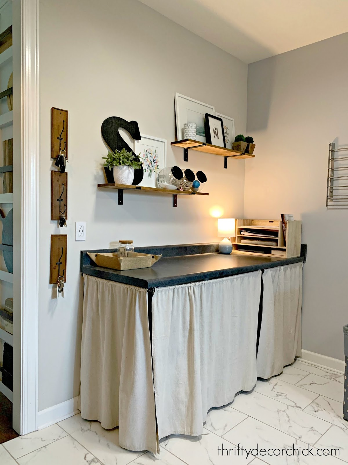 paper and mail organization mud room