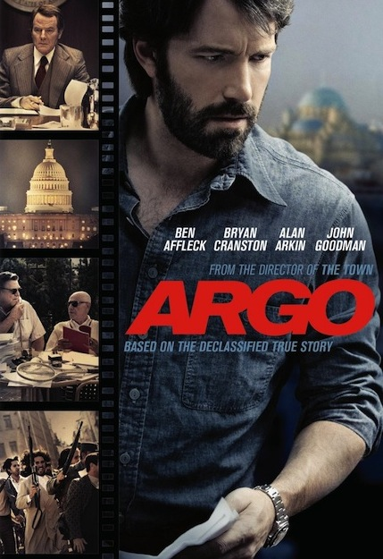 'Argo' poster with title and images from the movie