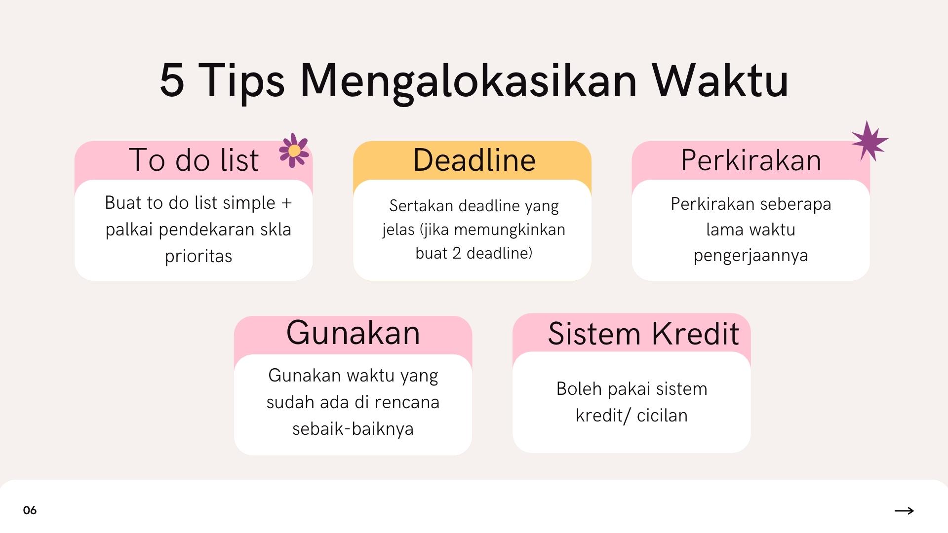 5 Tips Mengalokasikan Waktu