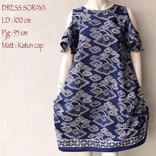 Model Dress Batik Wanita Cantik Dan Modern Seri Soraya