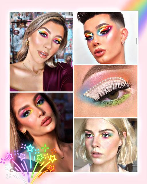 Rainbow makeup Pride month 2020