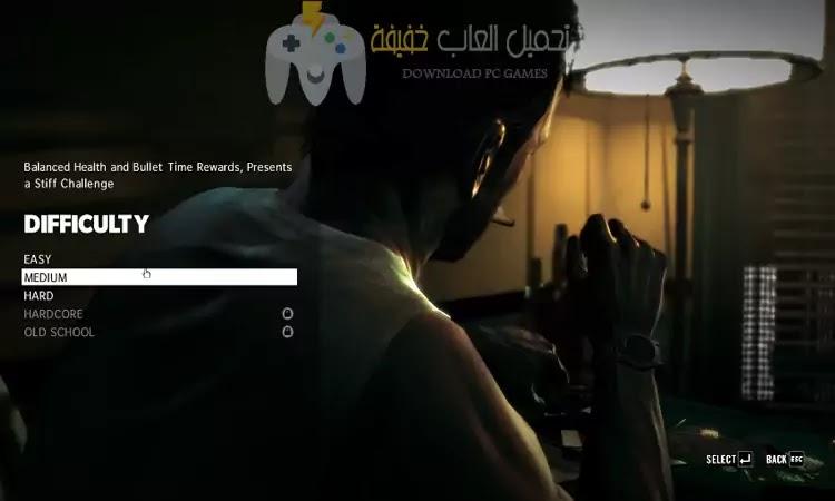 تحميل لعبه 3 Max Payne للكمبيوتر برابط مباشر مضغوطة