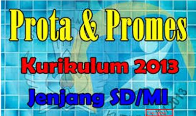 Prota dan Promes SD K13 Kelas 1,2,3,4,5,6, revisi 2017-2018