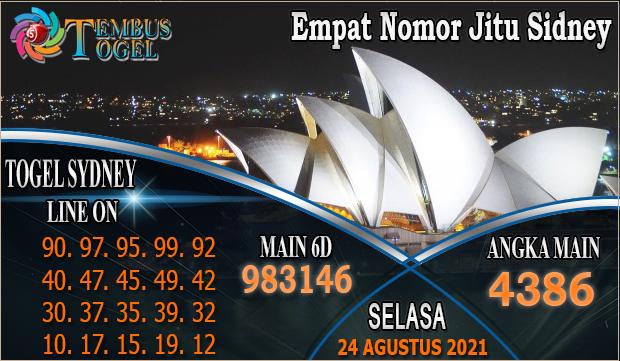 Empat Nomor Jitu SIdney, Selasa 24 Agustus 2021 Tembus Togel