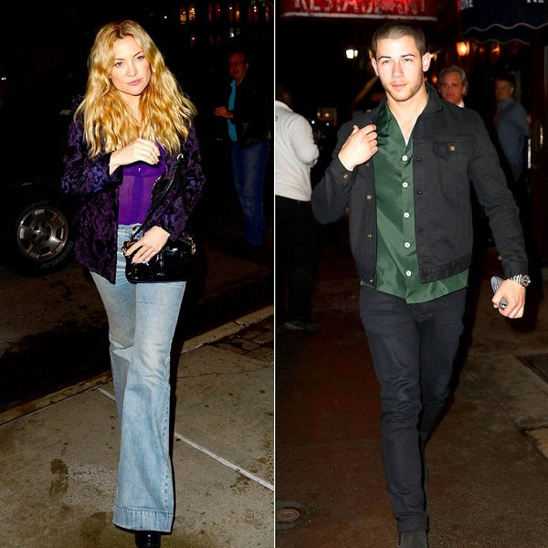 Kate Hudson and Nick Jonas Flirt During Late-Night Dinner in NYC