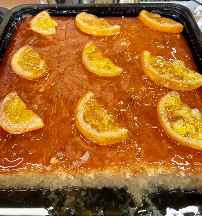 Πορτοκαλόπιτα σιροπιαστή