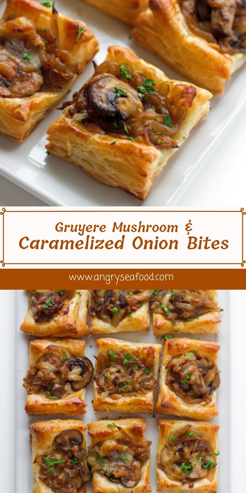 Gruyere Mushroom & Caramelized Onion Bites