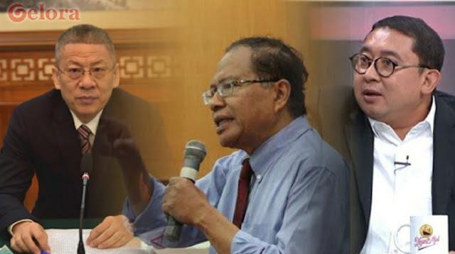 Fadli Zon Geram Kedubes China Merendahkan Pekerja Indonesia, Rizal Ramli Bilang Kurang Ajar