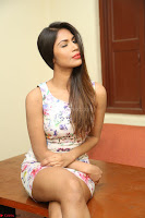 Nishi Ganda stunning cute in Flower Print short dress at Tick Tack Movie Press Meet March 2017 009.JPG