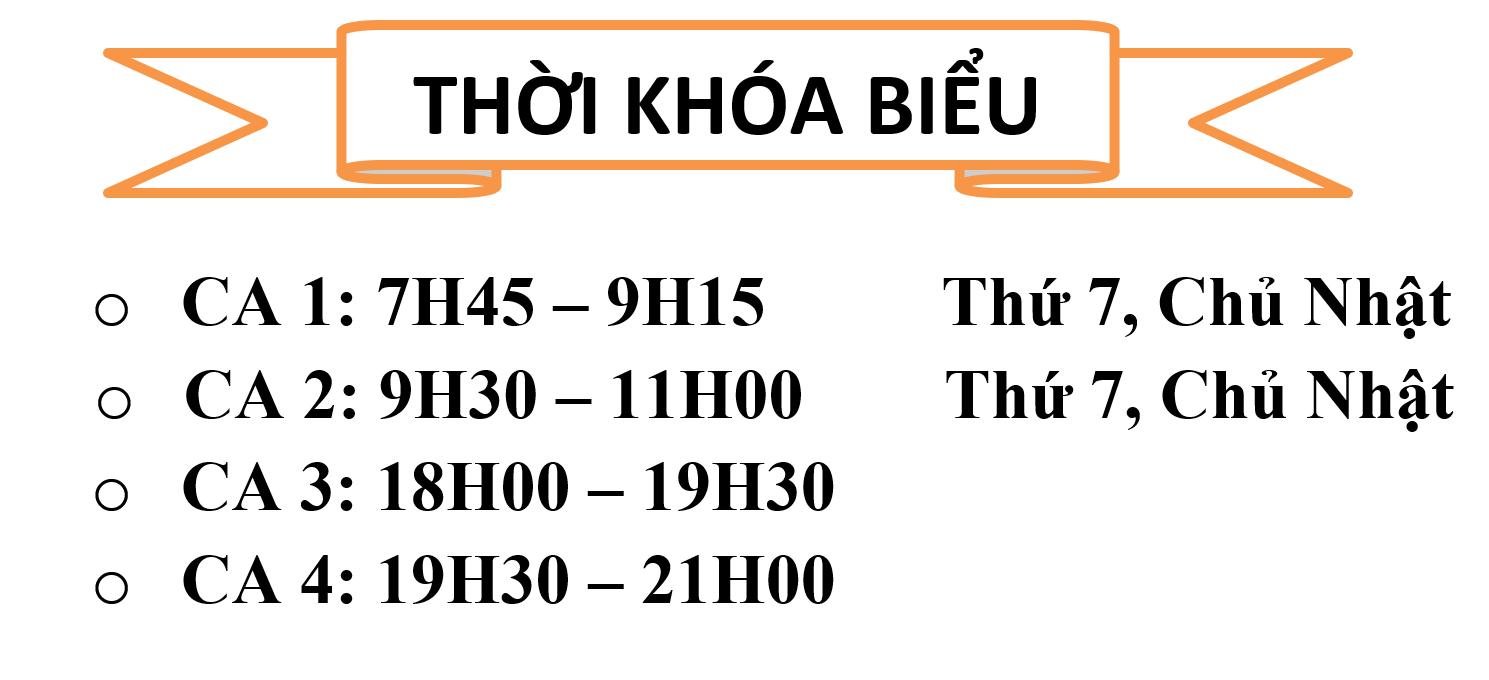 Thoi khoa bieu - timetable