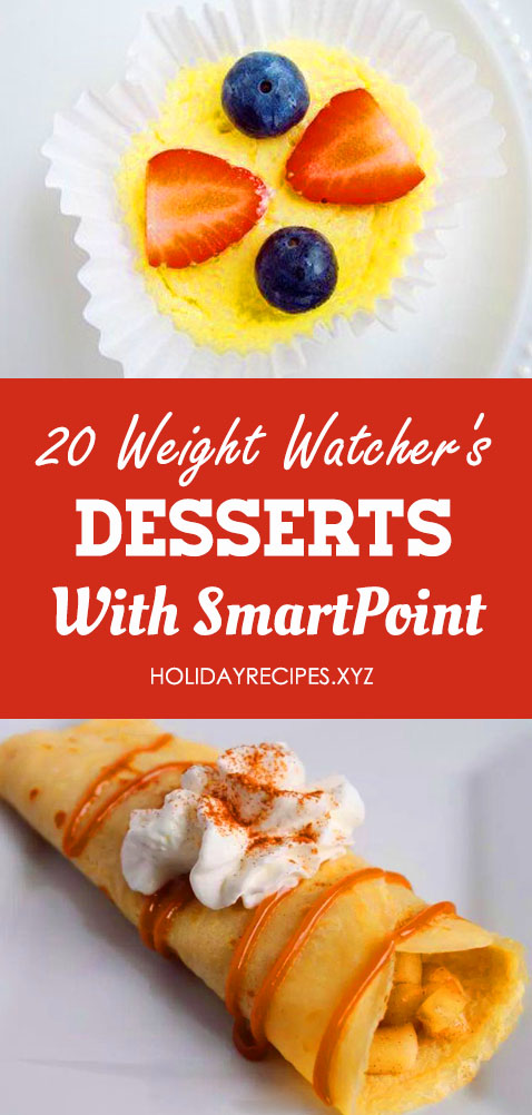 Save these most delicious and healthy Weight Watchers dessert recipes with SmartPoints on Pinterest! Your weight loss can be guilt-free even with desserts! Get the best ideas of desserts - weight watchers recipes with low SmartPoints to keep you on a healthy and delicious diet! #weightwatchers #diet #smartpoints #food #recipes #healthyrecipes #healthyfood #health #delicious