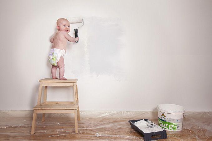 Foto tierna de bebé