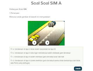 Contoh Soal Latihan SIM A