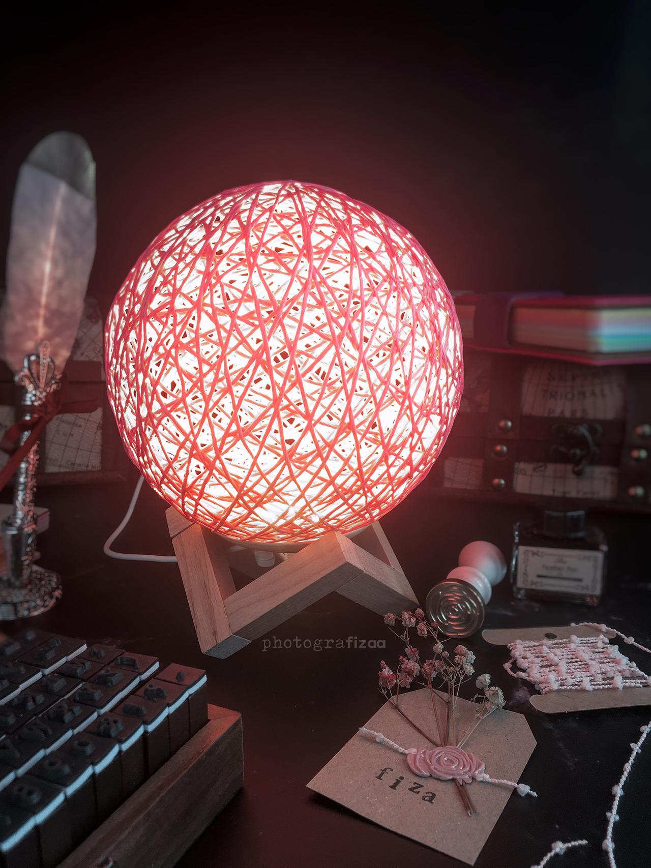 Lampu LED Bola Rotan 3D