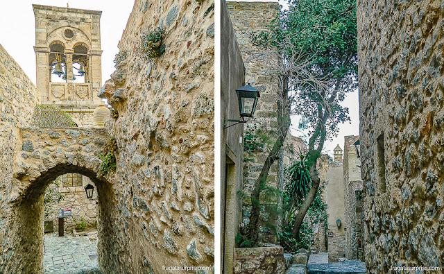 Ruas da vila medieval de Monemvasia, Grécia