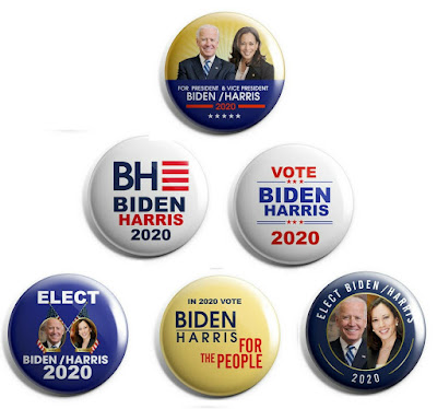 Joe Biden / Kamala Harris - Set of 6 Campaign Pins
