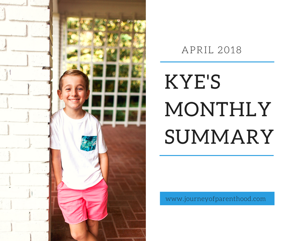 Kye Monthly Summary: April 2018