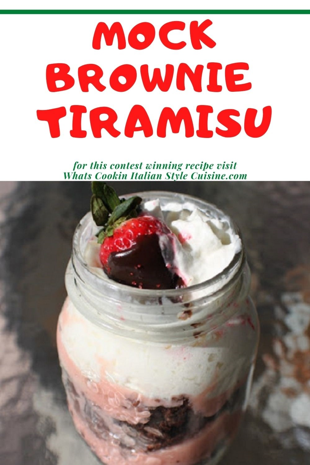 pin for later how to make brownie tiramisu in a mason jar