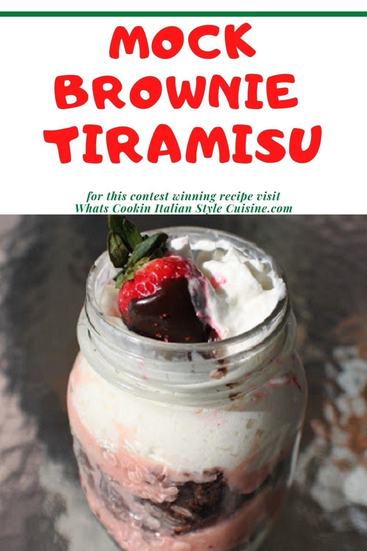 pin for later how to make brownie tiramisu in a mason jar